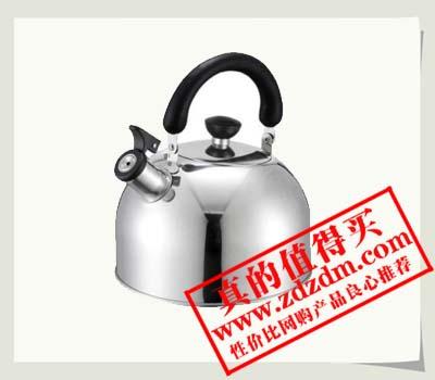 京东半价包邮的兴财3L经典球型不锈钢烧水壶MQ300,39.9元包邮