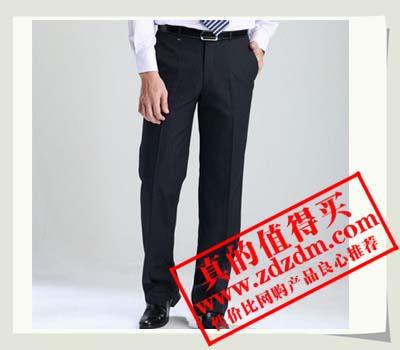 京东JOEONE九牧王 裤子 休闲直筒深色条纹西裤JA81661 暗淡的灰色89元包邮