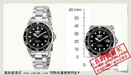 海淘:美国亚马逊Invicta 8932 专业潜水员男士手表,$56.03折合人民币360左右