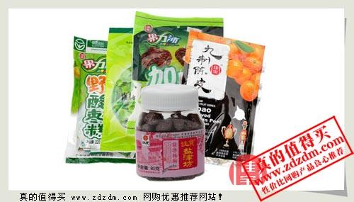 天猫佳宝官方店:佳宝梅果办公室零食 12件多款搭配+百草丹系列69元包邮