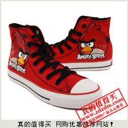 亚马逊:Angry Birds 愤怒的小鸟 男式高帮帆布鞋 29元