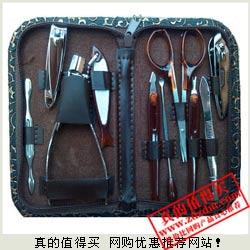 白菜价:金龙纹碳钢指甲刀套装 10件装 9.9元包邮(已涨价)
