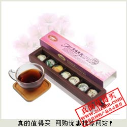 天猫白菜价:七味普洱花茶+新品试用装+茶网过滤器 9.9元包邮送10元店铺券
