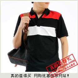 一号店:白菜价 DPX 莱卡珠地 棉质 翻领修身短袖POLO衫FL03FL03仅9.9元包邮(涨价)