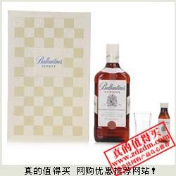 京东:Ballantine百龄坛特醇苏格兰威士忌700ml 2012套装礼盒减返后109元包邮