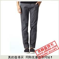 亚马逊:GIORDANO佐丹奴 男式修身窄版休闲裤01110583001断码价75元包邮