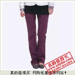 亚马逊:Tonlion 唐狮 女式100%纯棉休闲长裤 特价49元包邮