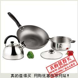 京东:Midea美的磁火通用巧乐厨3件套CTS3ET(炒锅,汤锅,水壶)超低价99元包邮