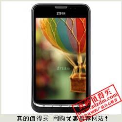 易迅网:ZTE 中兴 V961 3G 4.3寸屏 1GHz双核 500万像素 手机特价仅599元