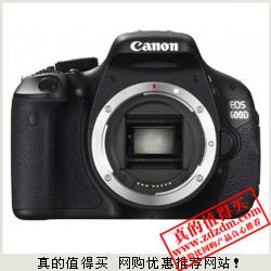 亚马逊:Canon佳能 EOS 600D 数码单反机身特价3299元包邮 全网最低
