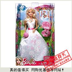 每个姑娘都怀揣芭比梦:京东 Barbie芭比 新娘芭比X1170特价79元包邮