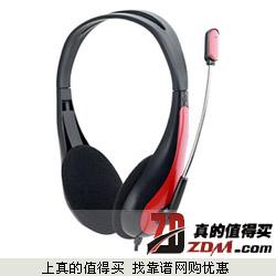 京东:耳神(EARSON)ES100M 头戴式耳机 黑红色仅10元 凑单包邮