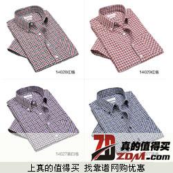 TOPOT 2013新款 棉质 牛津纺 时尚免烫格子衬衣特价29元包邮 多款可选