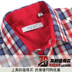 FAREAST远东 短袖修身格子衬衫特价29.86元包邮 限500件 限今天 17款