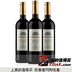 一号店:也买酒 欧娜干红葡萄酒三瓶装 750ml*3 团购69元包邮