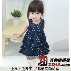 夏季新款宝宝波点连衣裙女童公主裙子   17.25元包邮
