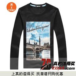 爆眼 伦敦城市风貌 纯棉免烫T恤衫下单享9.5元包邮 6色可选 断码