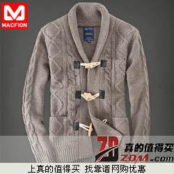 迈克菲恩 男士休闲羊毛衫11.8%羊绒+11.9%蚕丝报价298拍下29.8元包邮