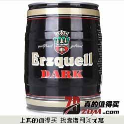 京东商城:Erzquell科隆1880黑啤酒 桶装5L*2+500ml*12罐雪花啤酒   仅198元包邮