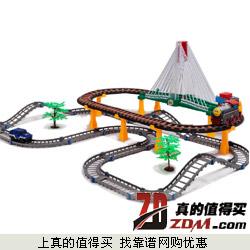 fen ming超大型多层电动轨道小火车 声光版下单39元包邮