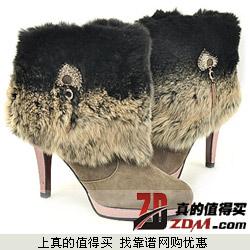 好乐买:KissCat 1.2折小牛皮加绒短靴仅199元 户外鞋服1.8折起探路者徒步鞋199