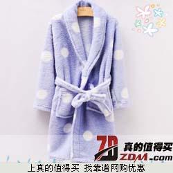 芬泊蕾蒂儿童睡袍家居服 珊瑚绒睡袍浴袍 16.8元包邮 限购两件