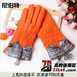 尼伯特 女式秋冬季可爱韩版保暖防风防寒加绒加厚骑行手套  9.9元包邮