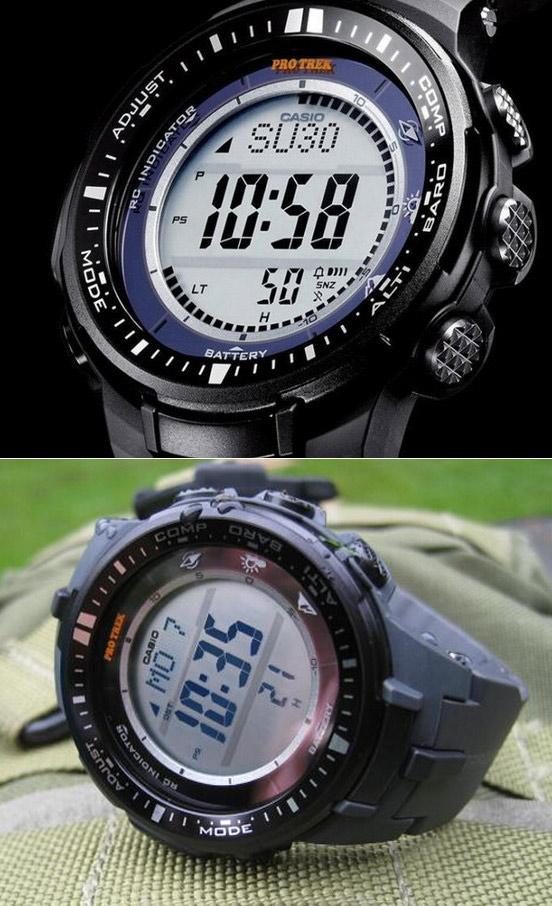 CASIO卡西欧PRW-3000-1CR登山系列男款腕表