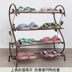 艺雅阁 欧式铁艺简约现代落地简易创意多层鞋架