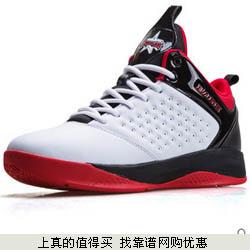 八哥  男子正品透气耐磨高帮休闲运动篮球鞋