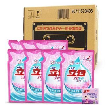苏宁:立白洗衣液套装洗护合一新专辑3.5kg+洗衣皂大包装 赠空桶