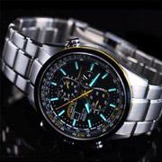 蓝天使钢带款:Citizen西铁城AT8020-54L光动能腕表
