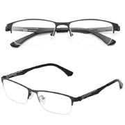惊爆价!HAN纯钛时尚光学眼镜架HD49110-F12*2副+1.56非球面树脂镜片*2副+眼镜护理剂*2+防滑套*2对