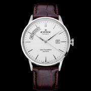 很超值:EDOX依度Les Vauberts系列83007-3-AIN男款机械腕表