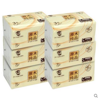 花季护航 100%原生竹浆抽纸6包