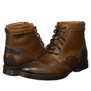 Clarks其乐Devington男士复古真皮细带短靴用码