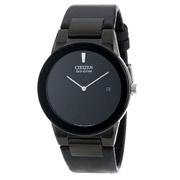 Citizen西铁城AU1065-07E 男士光动能纯黑色手表