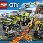 Lego乐高City城市系列60124火山探险基地