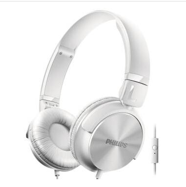 PHILIPS飞利浦 头戴式有线耳机SHL3065WT耳麦