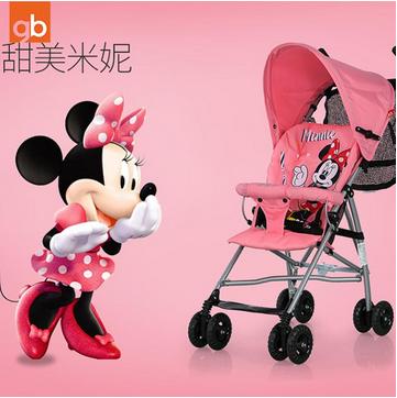 新低价!Goodbaby好孩子 迪士尼运动型轻便婴儿伞推车D301-H-P124BB