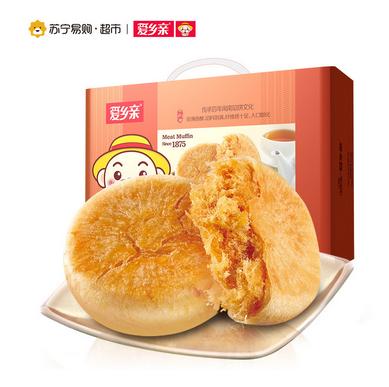 爱乡亲 肉松饼整箱1000g