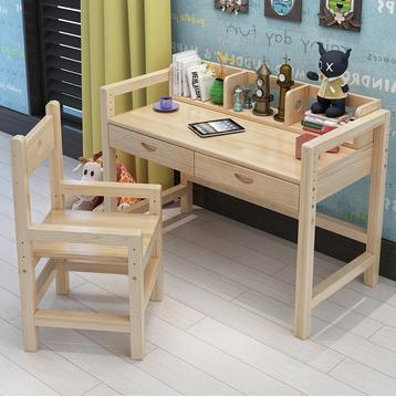 美梦居 可升降实木书桌套餐