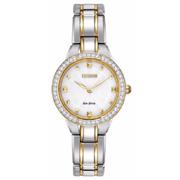 Citizen西铁城EX1364-59A Eco-Drive Crystal镶钻光动能女式腕表