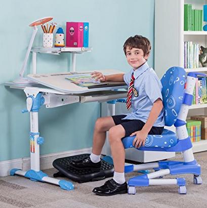 心家宜 M101L_M209L手摇机械升降儿童学习桌椅套装