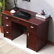 禧乐菲 现代办公电脑书桌红棕色1.2米