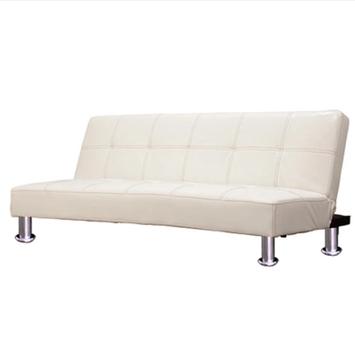 奥古拉家具 日式简约折叠皮艺沙发床175cm
