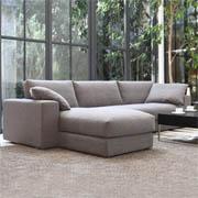 紫茉莉 北欧宜家布艺沙发全长3.2米