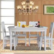 木巴 CZ123+YZ287实木椭圆餐桌椅