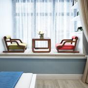 KUKA顾家家居日韩风实木1桌2椅组合套装