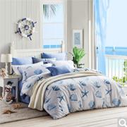 LOVO罗莱家纺美式全棉纯棉床品四件套床海洋记忆1.8米